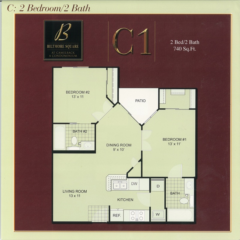 C1: Small 2 Bedroom